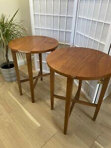 2 G Plan Mid Century Teak Folding Side Tables
