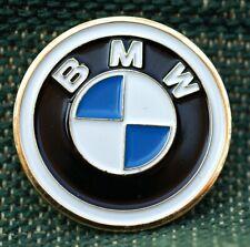 "BMW  1"" Gold Plated Golf Ball Marker by Golf Design USA"