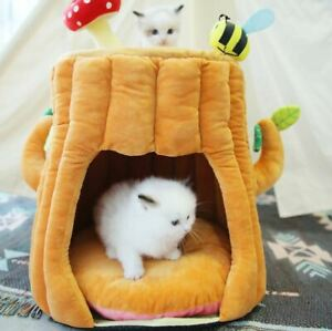 New Cute Tree Pet Dog Cat House Tent Sofa Bed Cushion Mat Removable Kitty Puppy