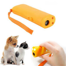 3 In 1 Training Repeller Ultrasonic Anti Bark Device Stop Barking Dog LED Light