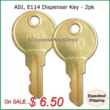 ASI, E114 Dispenser Key for Paper Towel, Toilet Tissue Dispensers - (2/pk.)