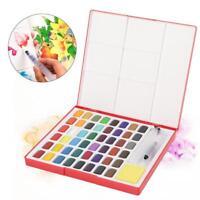 Solid Aquarellkasten Aquarellfarben Aquarellfarbkasten 48 Farben Pigment Pinsel