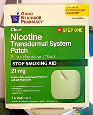 STEP 1 Nicotine Patch 21 mg (14-2 WEEK SUPPLY) EXP 2022 Compares to HABITROL