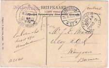 Netherlands: Leidscheplein Postcard; Amsterdam-Rangoon, Burma, 25 Oc-19 No 1912