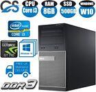 Dell Optiplex Desktop Tower Pc Computer Intel Core I3 8gb Ram 2gb Graphics Card