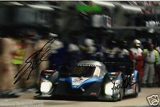 "Le Mans Drivers David Brabham & Alex Wurz Hand Signed Photo Peugeot 12x8"" Ac"