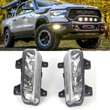 For 2019-2020 Dodge Ram 1500 DT Pair Bumper LED Fog Lights Bulb Lamp Upgrade Kit