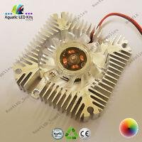 High Power Alluminium Heatsink With Fan 3w,5w,10w LED Cooling, 12V CPU, DIY, UK
