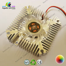 High Power Alluminium Heatsink With Fan 3w,5w,10w LED Cooling, 12V CPU, DIY, UK