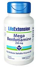 Mega Benfotiamine (250 mg) - Life Extension - 120 Veggie Capsules