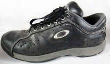 OAKLEY black leather US 10 shoe tactical uk 9 eu 44 perforated loafer lace logo
