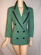 ESCADA Womens 42 fits 6 8 PRETTY PEACH BEIGE Wool Silk Vintage Jacket Blazer