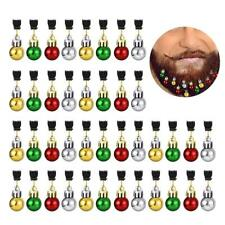 12 PCS Christmas Beard Hanging Ornaments Bells Santa Claus Decor Sound Bell Clip