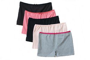 Damen Boxershorts Hipster Pants Baumwolle Panty Unterhose schwarz Slip Hüftslip