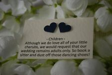 Heart Embellished Cards - Requesting Adults Only - No Children - at Wedding