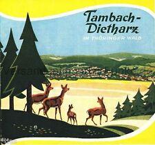 Tambach Dietharz im Thüringer Wald Prospekt DDR 1958 Thüringen mit Ortsplan