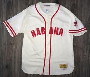 Vintage Havaba Habana Cream Baseball Jersey Ebbets Field Flannels Stall Dean XXL
