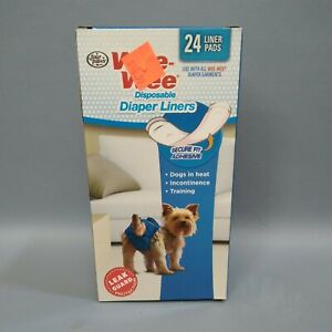 WEE-WEE DISPOSABLE DIAPER LINERS SECURE FIT ADHESIVE ( 24 LINER PADS )