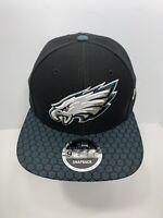 New Era NFL 9FIFTY Black Philadelphia Eagles SnapBack Flat Bill Cap, NEW!