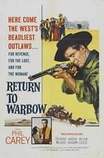 RETURN TO WARBOW Movie POSTER 27x40 Philip Carey Catherine McLeod Andrew Duggan