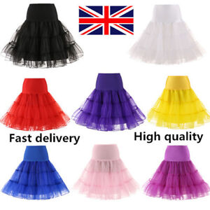 """26"""" Retro 50s Swing Vintage Tutu Underskirt Petticoat Rockabilly Fancy Net Skirt"""