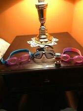 speedo race googles and other goggle types for swimming bundle pack