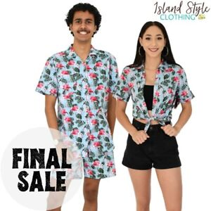 Flirty Flamingo Mens Hawaiian Shirt & Shorts + Ladies Shirt