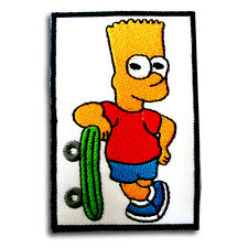 The Simpson Bart Patch Iron on Kids Sew Badge Cartoon Motif Toy Girl Boy Funny