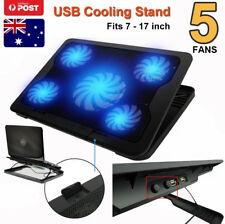 """LED 5 Fans Cooler USB HUB Stand Holder Cooling Cooler For Laptop Notebook 7""""-17"""""""