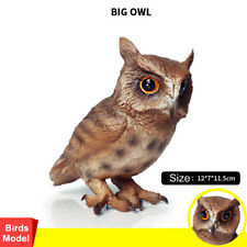 Big Owl Figure Wild Birds Model Simulation Figure Collector Toy Decor Kids Gift