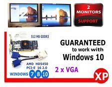 Windows 10 512MB GDDR3 Video Card PCI-E x16.2 Radeon HD 5450 DELL DX11 DriverDVD
