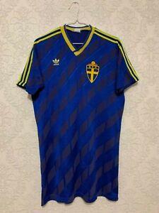 Sweden 1988-1990 Match Worn Adidas Away Football Shirt #18 Johnny Ekström