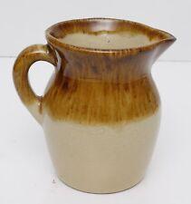 Vintage Stoneware ROSEVILLE Ohio Pottery (R.R.P. CO.) Tan Pitcher