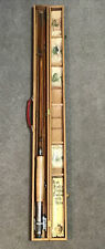 Vintage Pearl 5pc  Split Bamboo Fly/Spin Rod Combo In Wood Box Lot 86