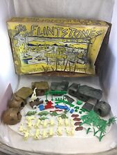 1960's Marx Flintstones Play Set 4674 5948 W/ Box