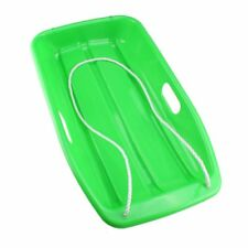 Plastic Outdoor Toboggan Snow Sled for Child Green F6