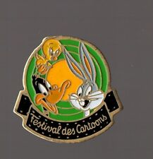 Pin's Bugs Bunny ,Titi et Duffy duck (Festival Des Cartoons) signé Warner Bros