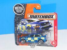 Matchbox 2017 Short Card Heroic Rescue #60 '15 Subaru WRX STi Blue Police