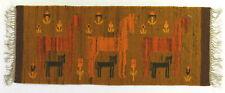 More details for mares / horses & foals modernist vintage textile wall hanging / rug 1970's