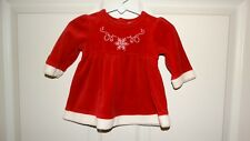 BABY GIRLS CHEROKEE LONG SLEEVE CHRISTMAS DRESS SIZE 3 MONTHS COLORS RED WHITE