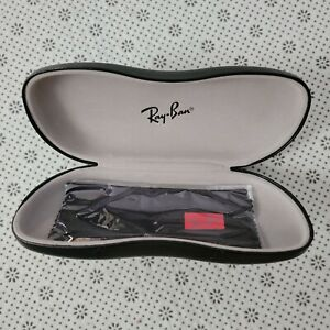 Authentic Ray Ban Rx Black Eyeglass Hard Case A10 with lense cloth