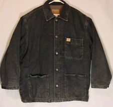 Gap Denim Premium Blue Jean Chore Jacket  Barn Coat Flannel Quilted Lined