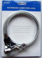 CABLE ANTIVOL NEUF pour PC portable, docking, ecran, UC, imprimante (kensington)