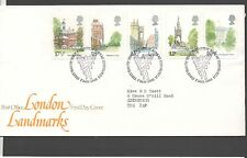 GB 1980 FDC London Landmarks, Bureau Edinburgh postmark stamps