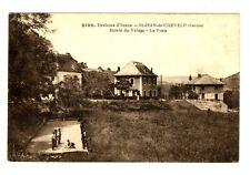 CPA 73 Savoie St-Jean-de-chevelu Entrée du Village La Poste jeu de boules