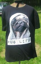 """Pug Life Iron On Patch 3/"""" x 2.5/"""" by Ivamis Trading Free Shipping Dog P4344"""