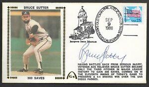 Bruce Sutter Autographed 300 Saves Gateway Stamp Cachet Envelope Postmark