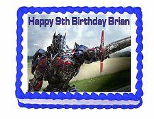 Transformers Optimus Prime edible party cake topper cake image sheet decoration