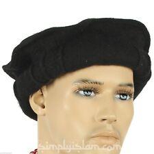 Black color Handmade afghan pakol pakul wool hat cap topi for men and women 0aae928f4cbc