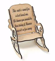 3D Rocking Chair, Save a seat for someone in heaven, lost loved one gift ideas